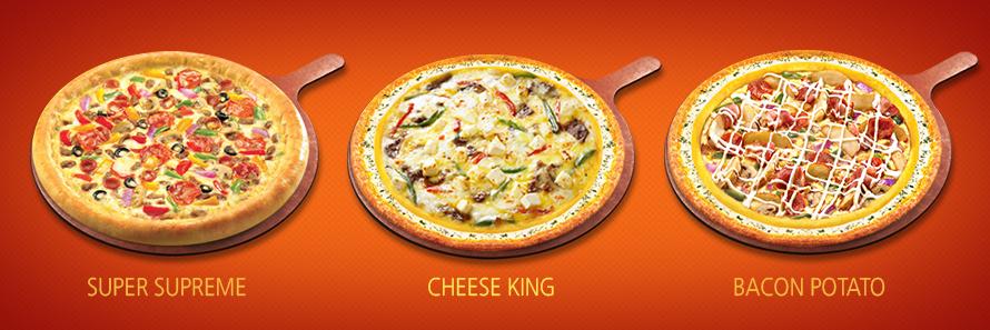 Super Supreme, Cheese King, Bacon Potato